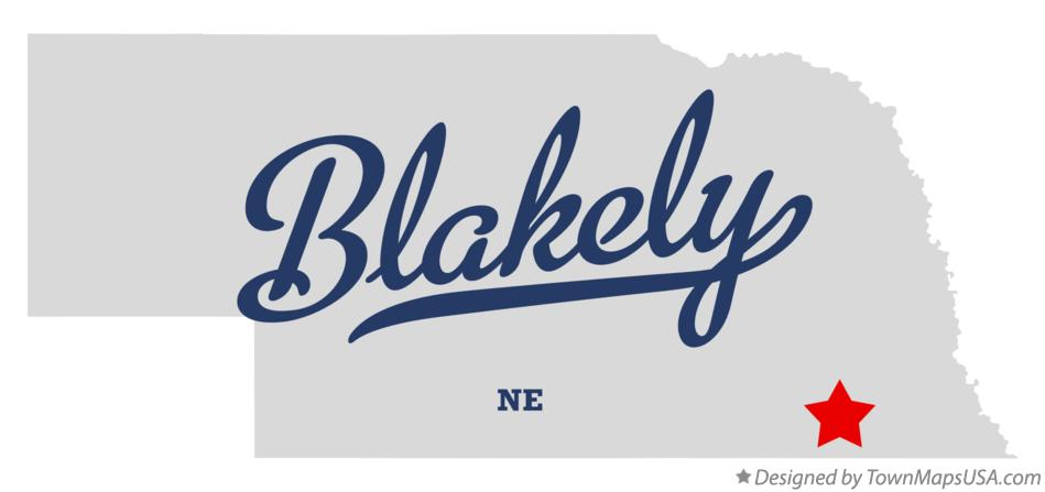 Map of Blakely Nebraska NE