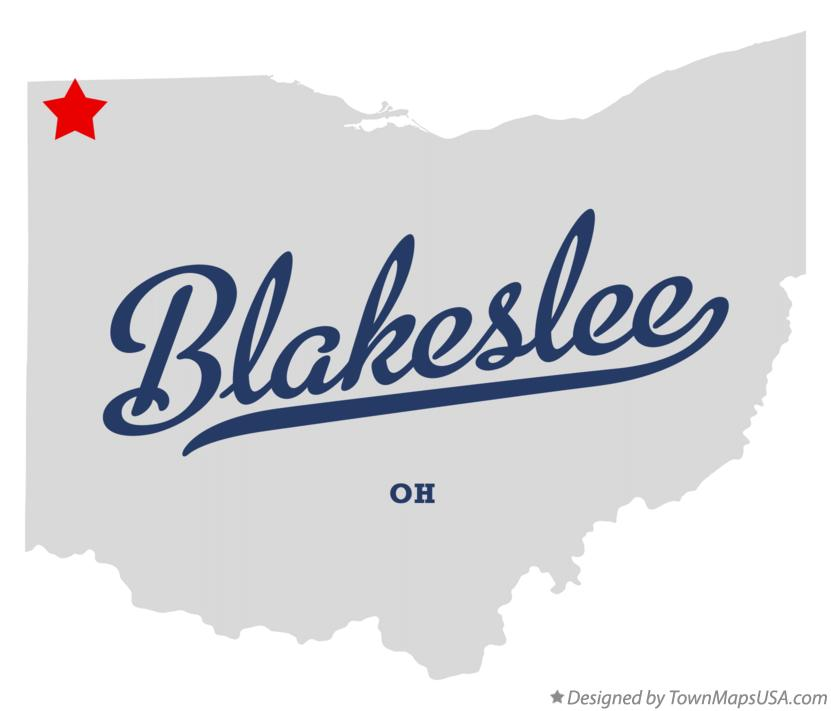 Map of Blakeslee Ohio OH