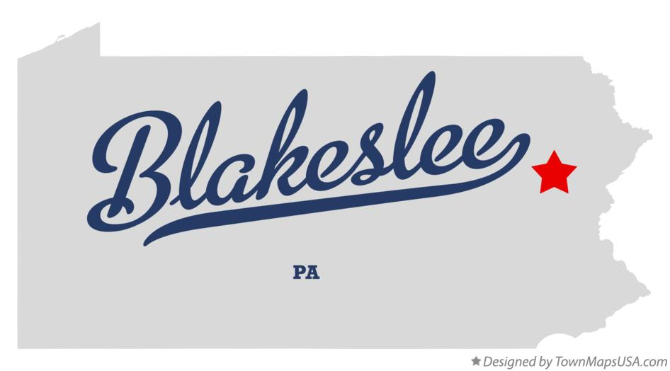 Map of Blakeslee Pennsylvania PA
