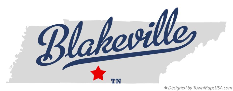 Map of Blakeville Tennessee TN