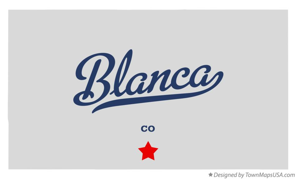 Map of Blanca Colorado CO