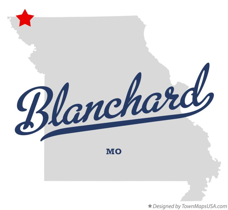 Map of Blanchard Missouri MO
