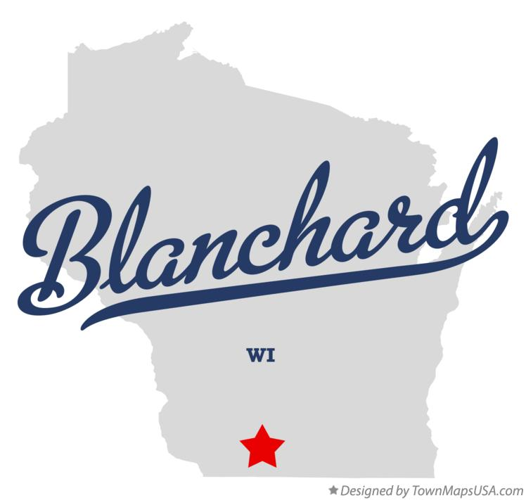 Map of Blanchard Wisconsin WI