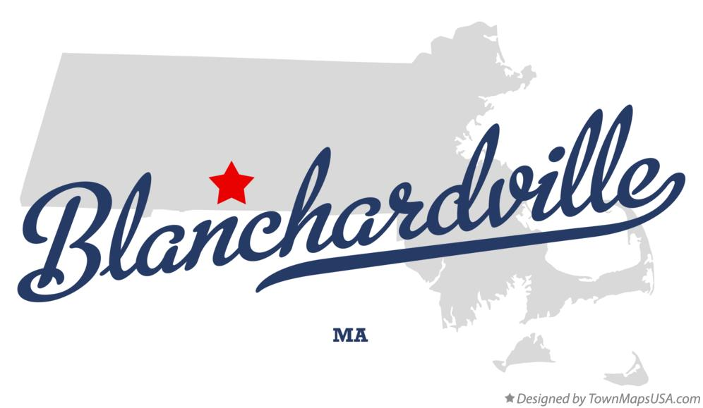Map of Blanchardville Massachusetts MA