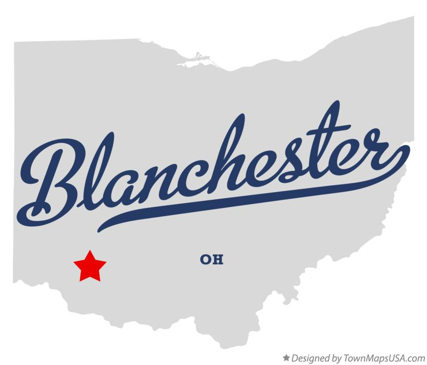 Map of Blanchester Ohio OH
