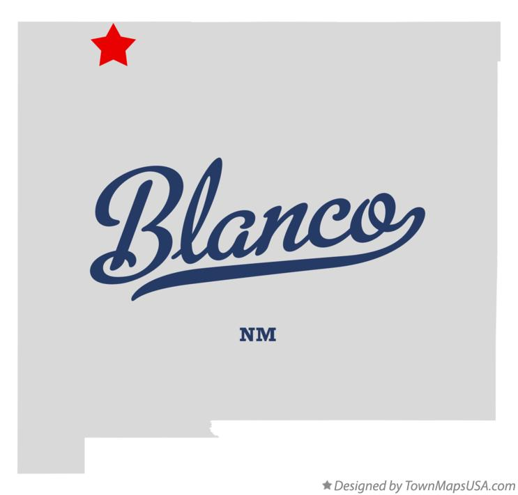 Map of Blanco New Mexico NM