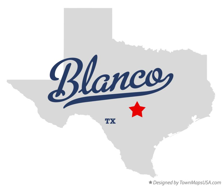 Map Of Blanco Tx Texas