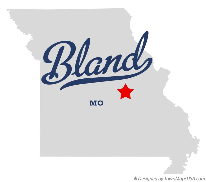Map of Bland Missouri MO