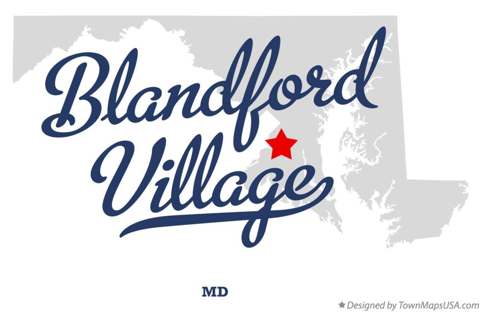 Map of Blandford Village Maryland MD