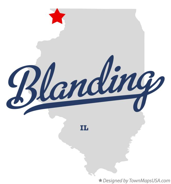 Map of Blanding Illinois IL