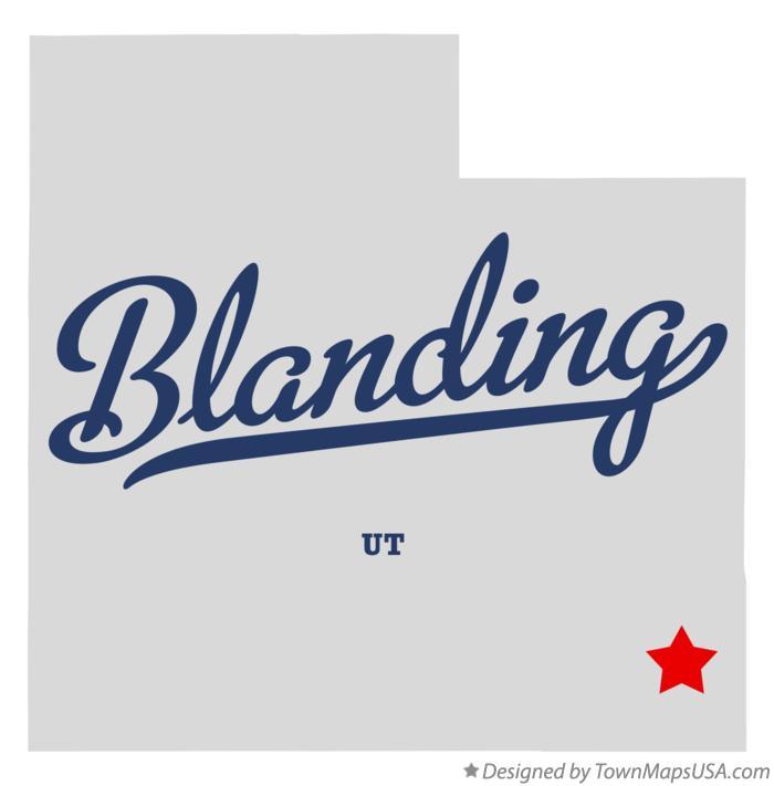 Map Of Blanding Ut Utah
