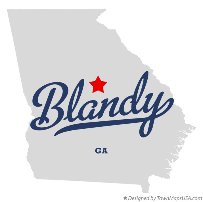 Map of Blandy Georgia GA