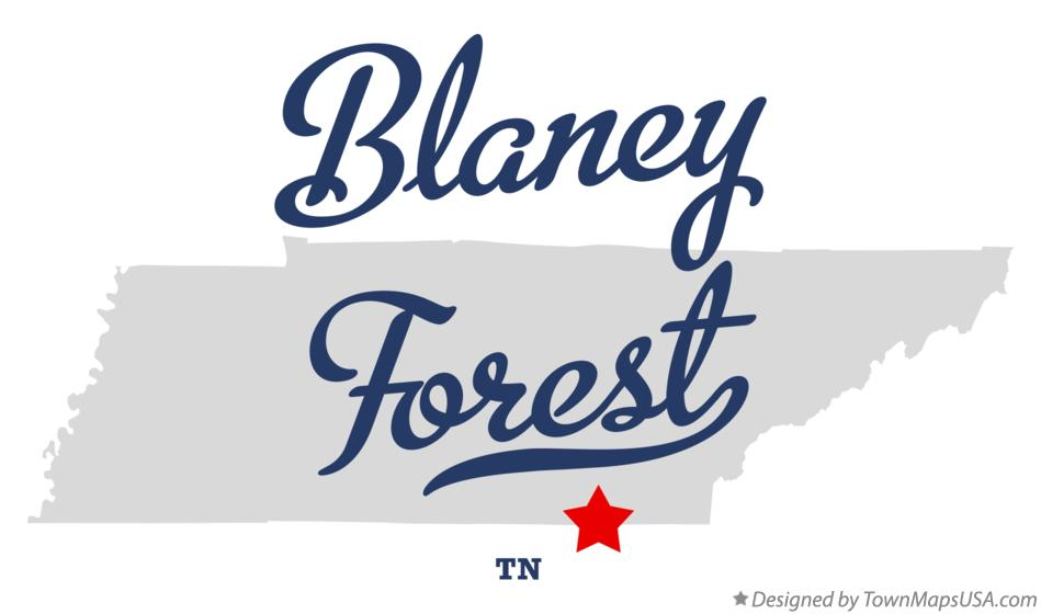 Map of Blaney Forest Tennessee TN