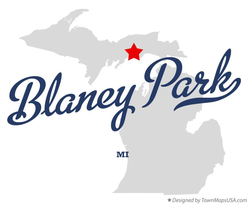 Map of Blaney Park Michigan MI