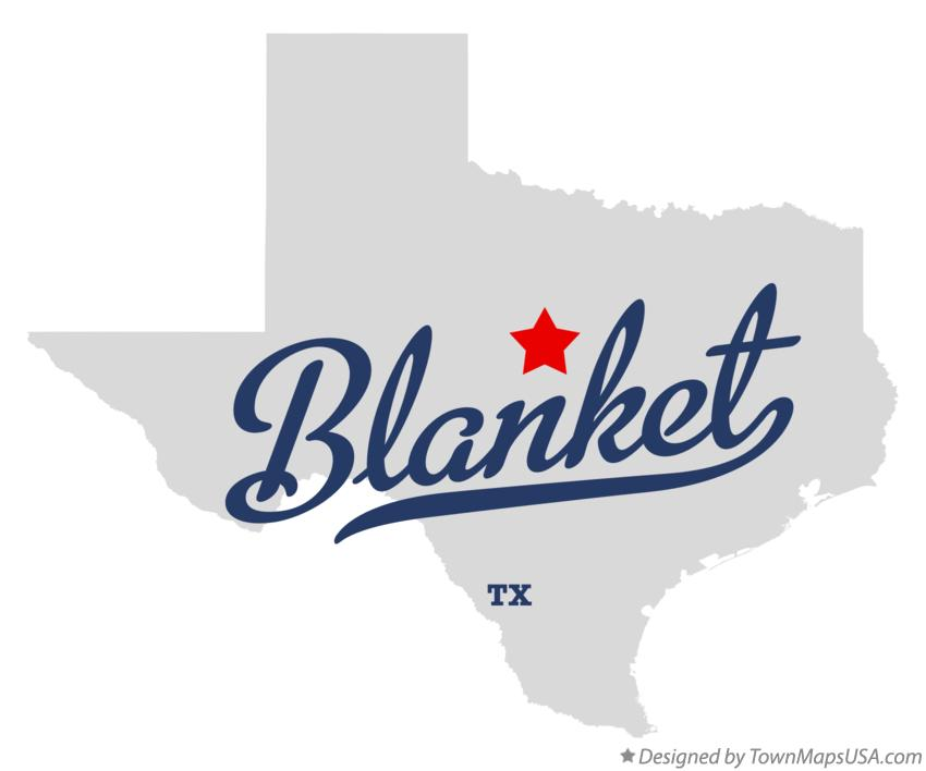 Map of Blanket Texas TX