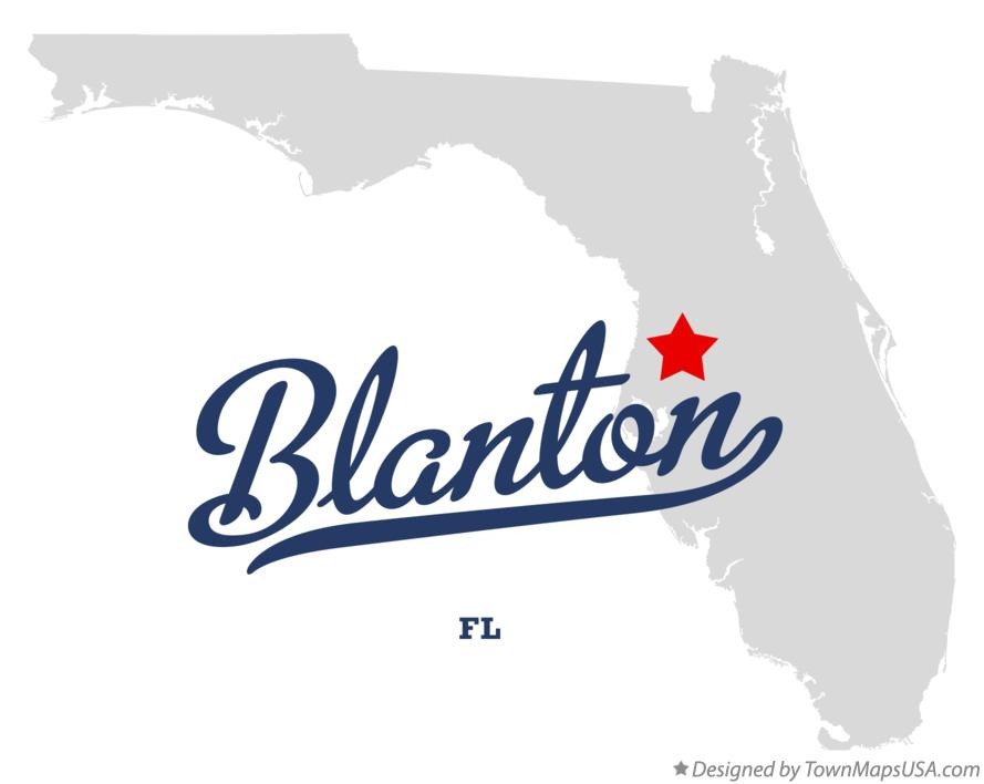 Map of Blanton Florida FL
