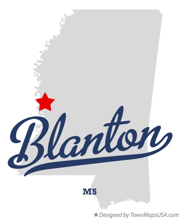 Map of Blanton Mississippi MS