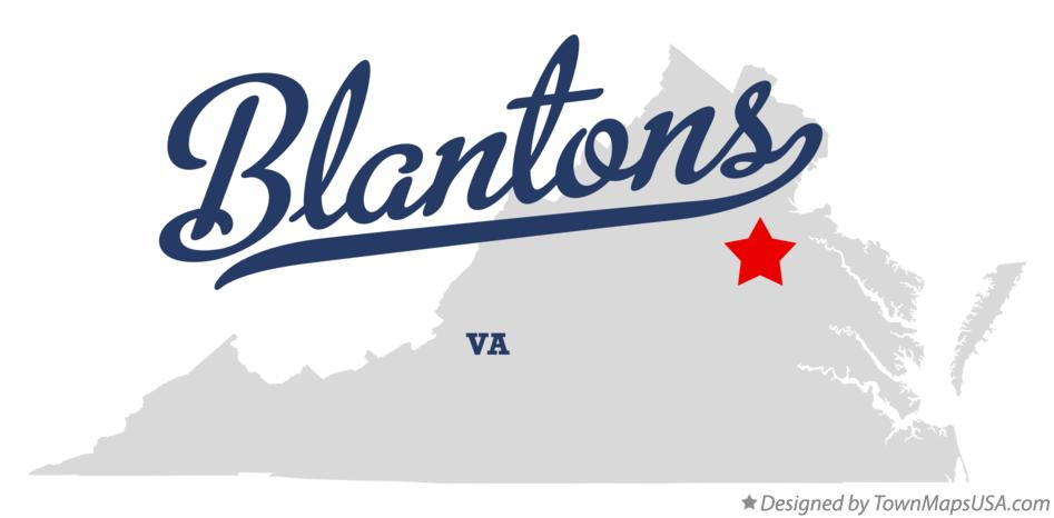 Map of Blantons Virginia VA