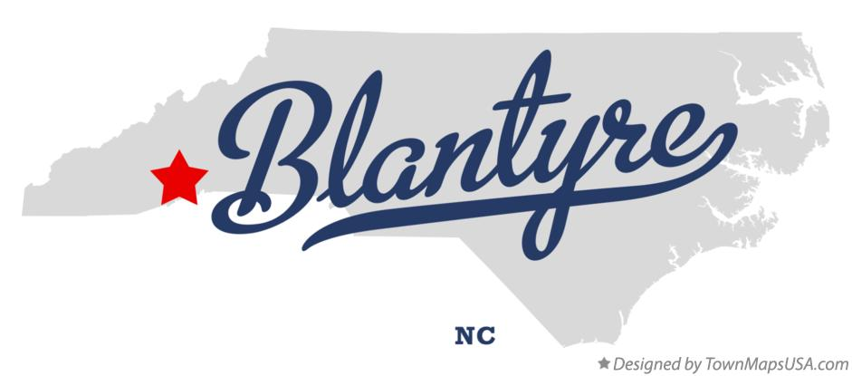 Map of Blantyre North Carolina NC