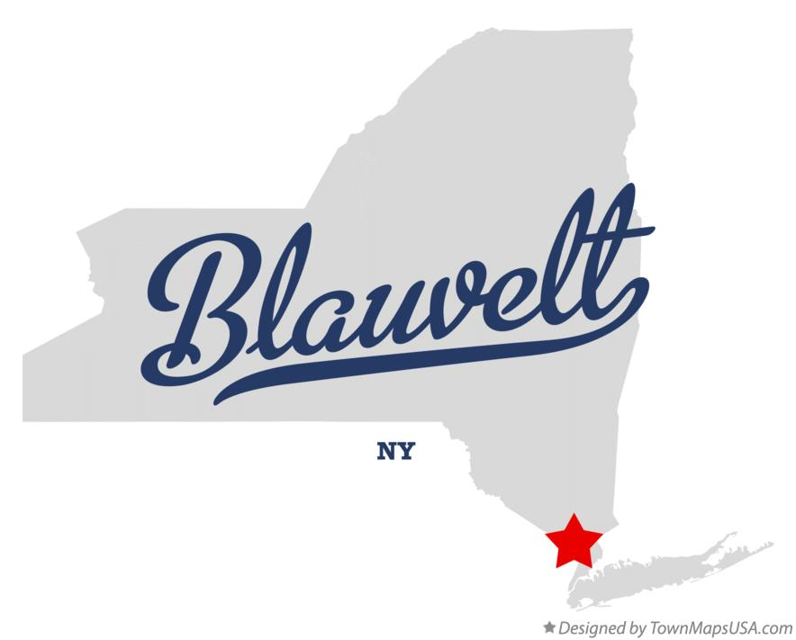 Map of Blauvelt New York NY
