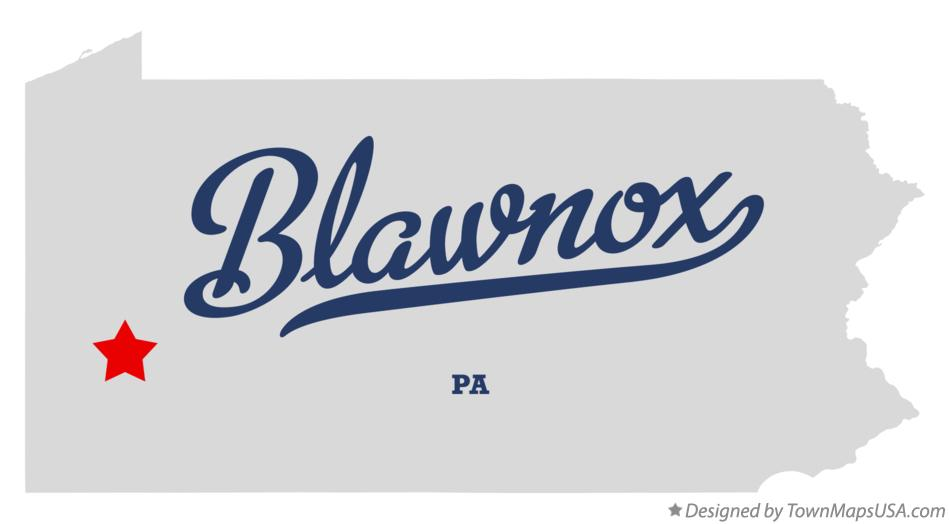 Map of Blawnox Pennsylvania PA