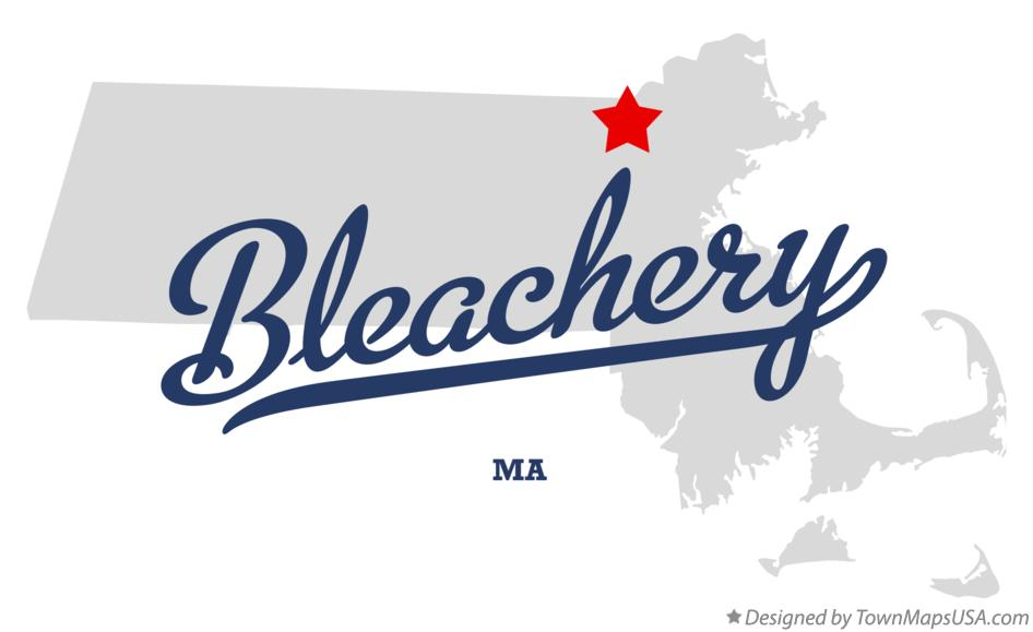 Map of Bleachery Massachusetts MA