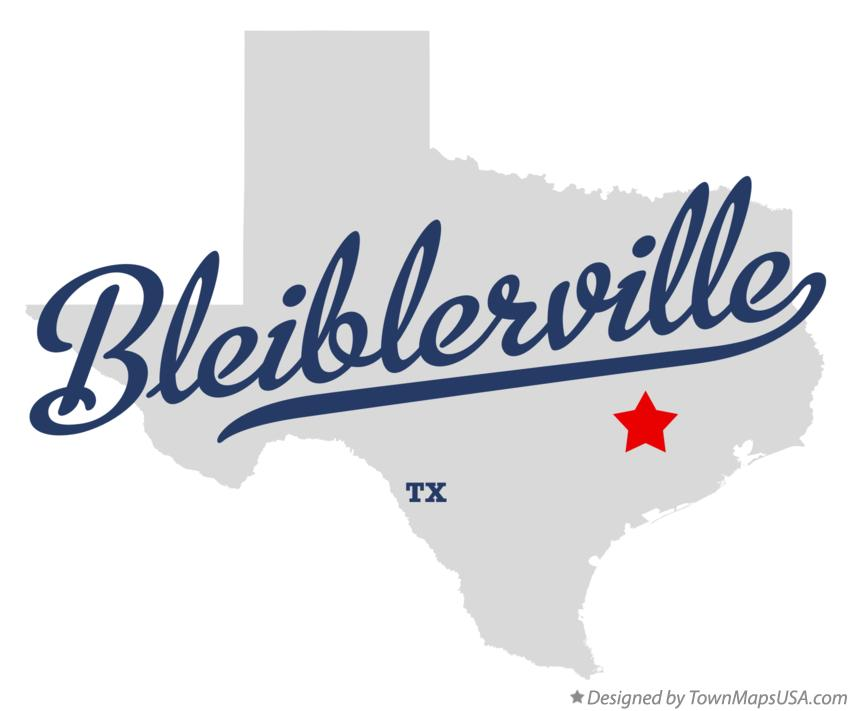 Map of Bleiblerville Texas TX
