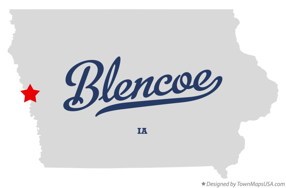 Map of Blencoe Iowa IA
