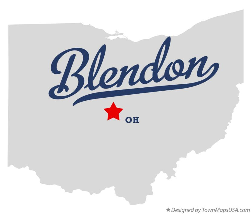 Map of Blendon Ohio OH