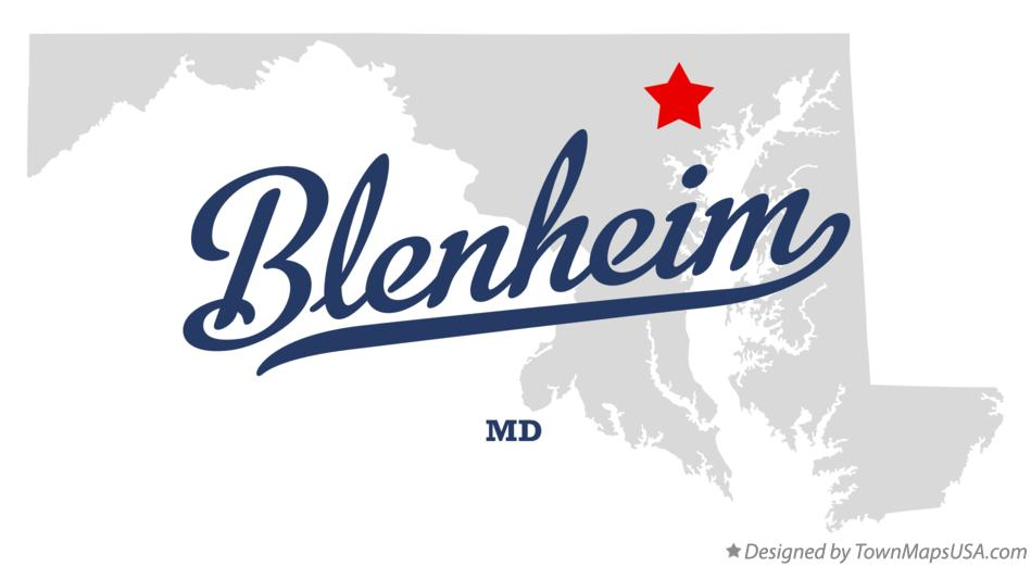 Map of Blenheim Maryland MD