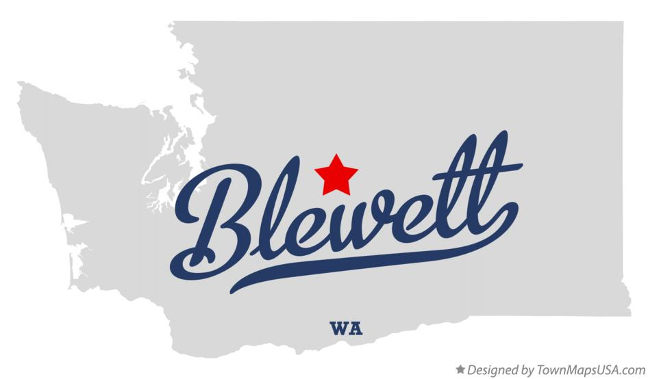 Map of Blewett Washington WA