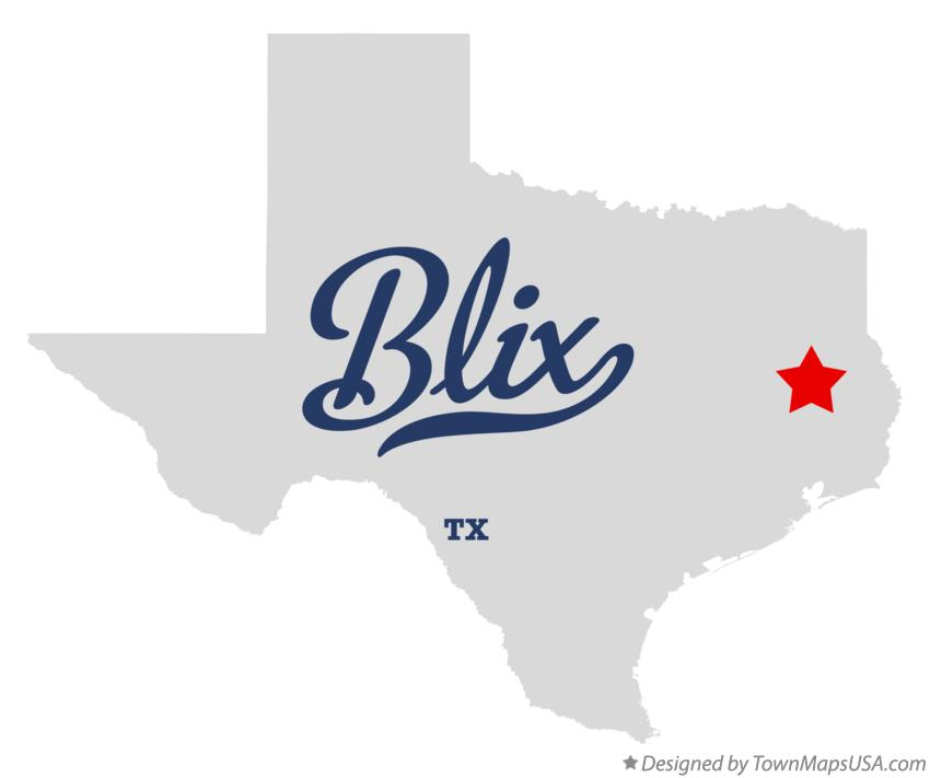 Map of Blix Texas TX