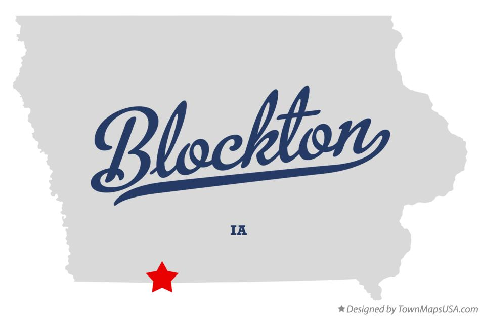 Map of Blockton Iowa IA