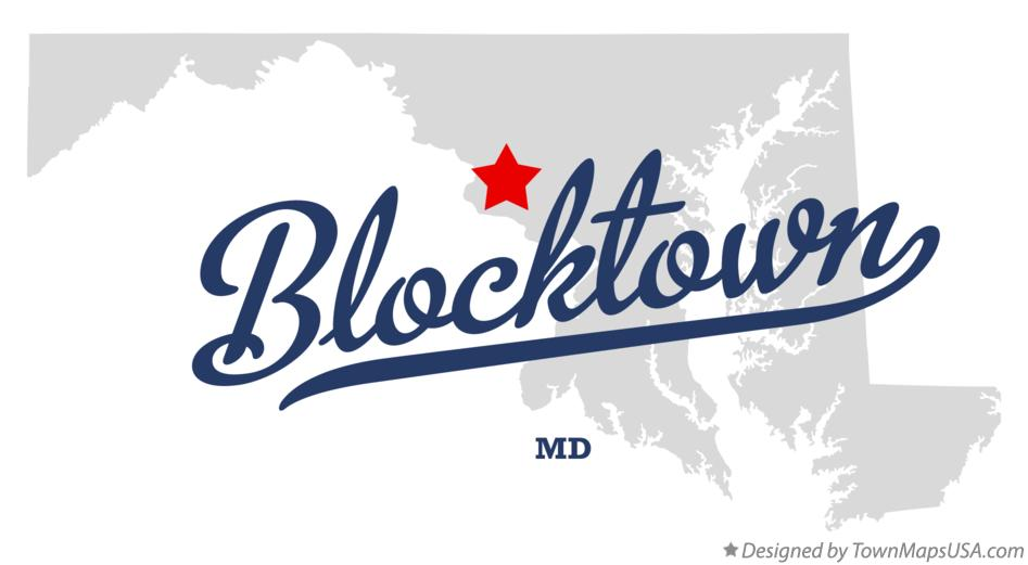 Map of Blocktown Maryland MD