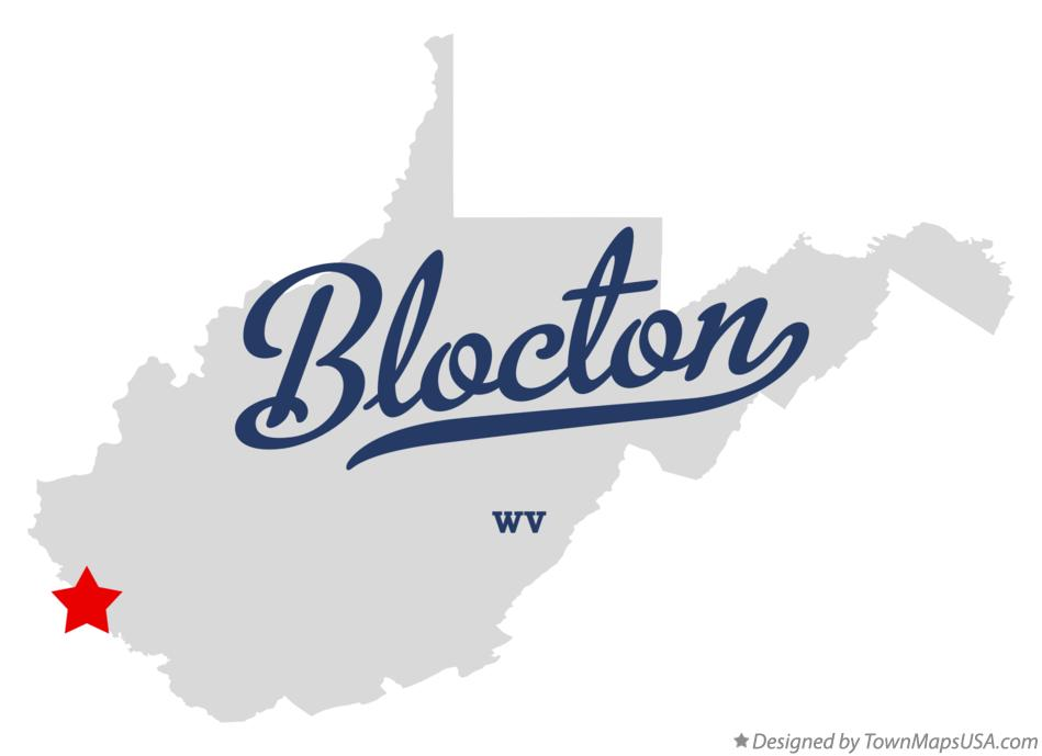 Map of Blocton West Virginia WV