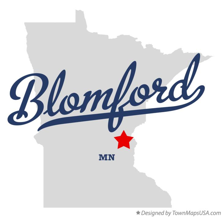 Map of Blomford Minnesota MN