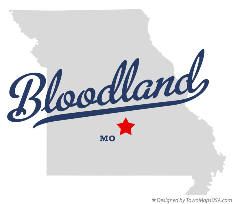 Map of Bloodland Missouri MO