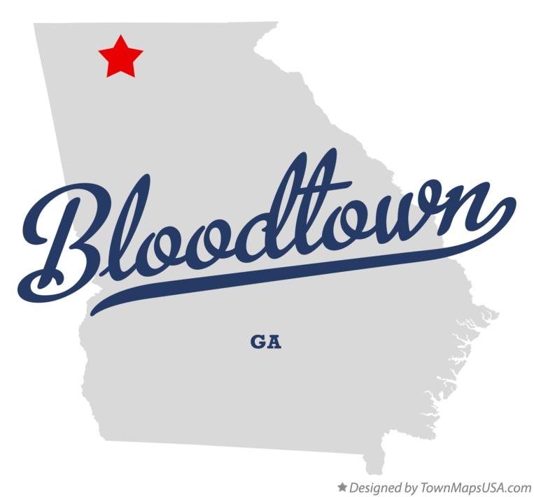 Map of Bloodtown Georgia GA