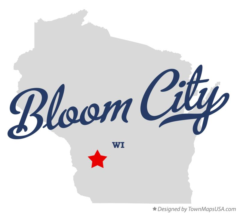 Map of Bloom City Wisconsin WI