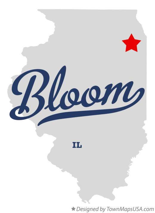 Map of Bloom Illinois IL