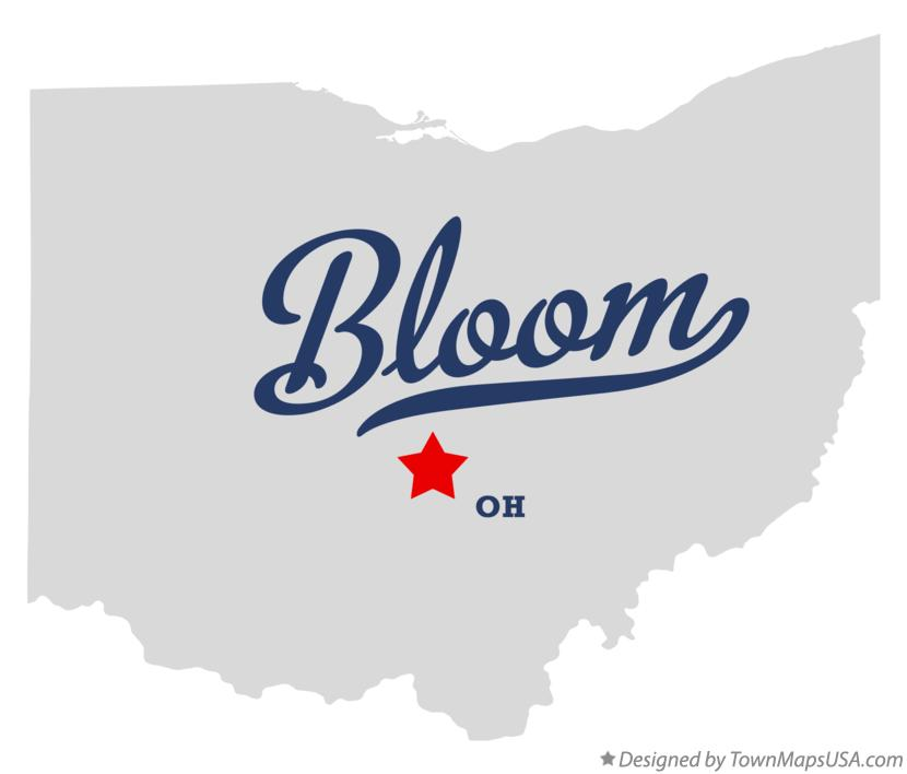 Map of Bloom Ohio OH