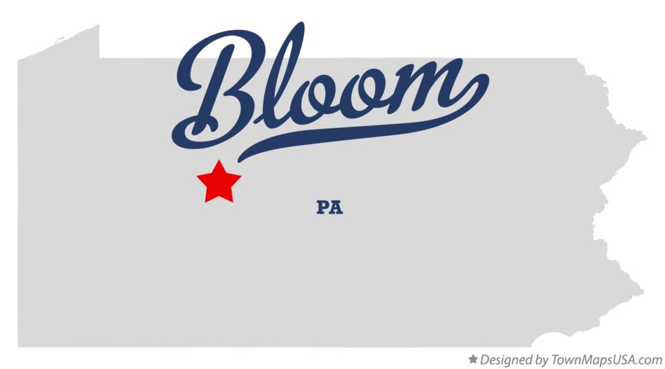 Map of Bloom Pennsylvania PA