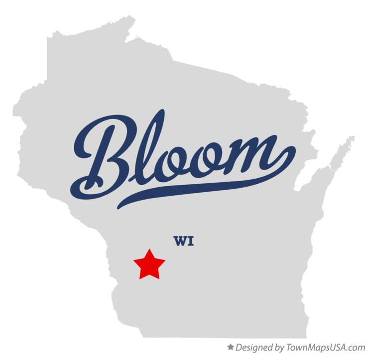 Map of Bloom Wisconsin WI