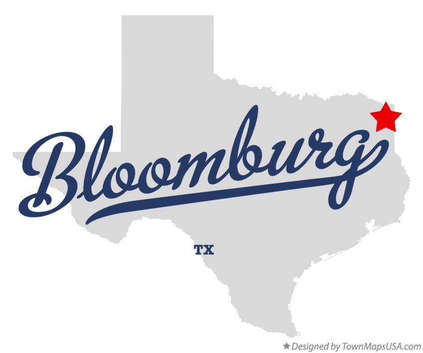 Map of Bloomburg Texas TX