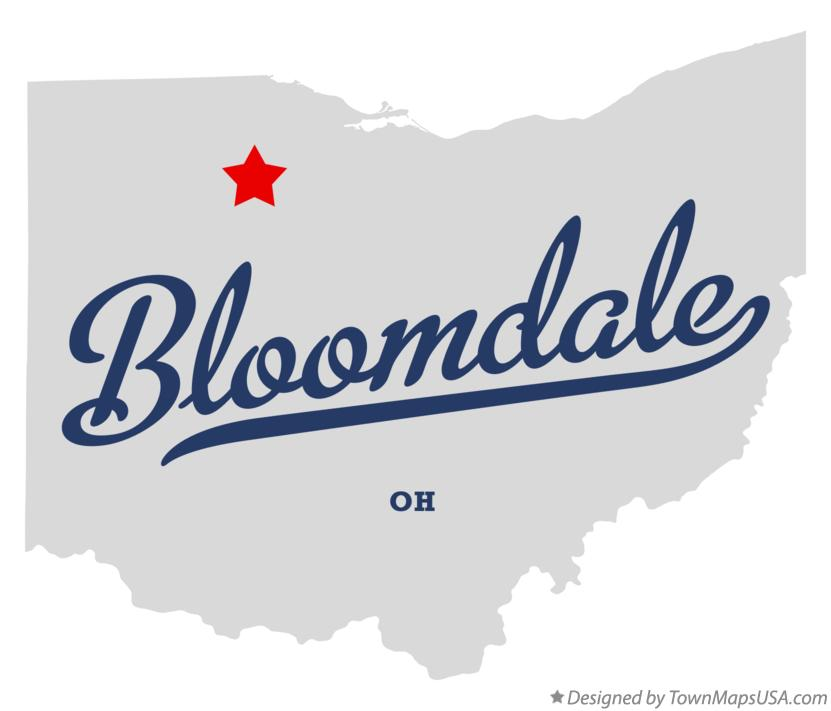 Map of Bloomdale Ohio OH