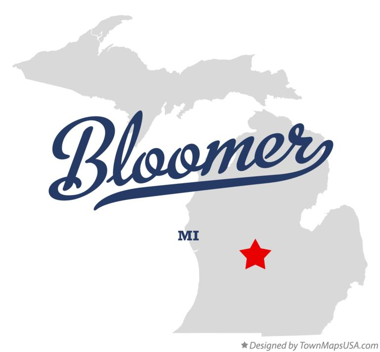 Map of Bloomer Michigan MI