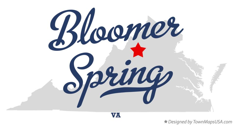 Map of Bloomer Spring Virginia VA