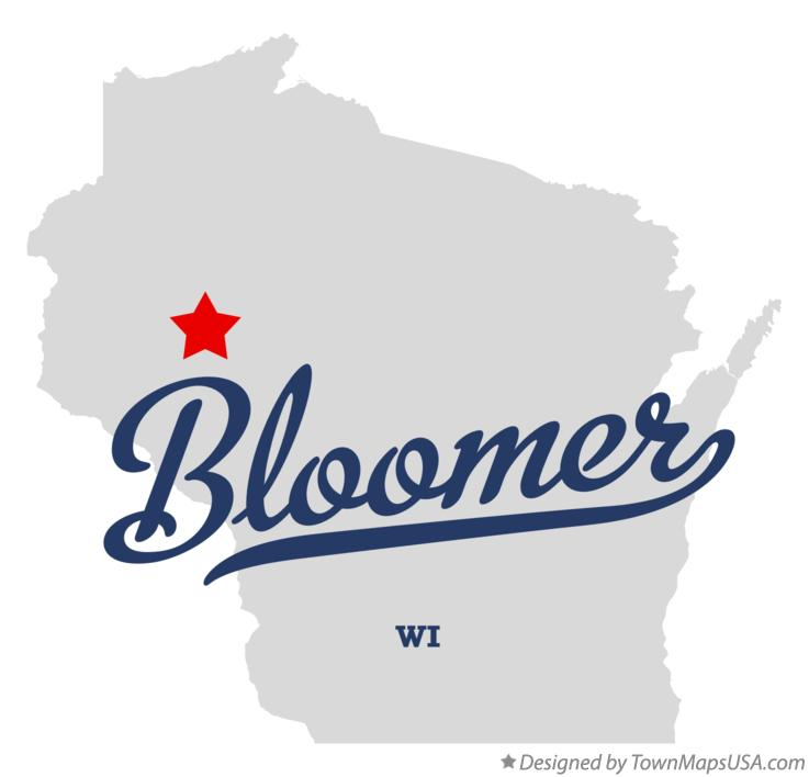 Map of Bloomer Wisconsin WI