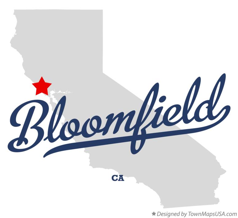 Map of Bloomfield California CA