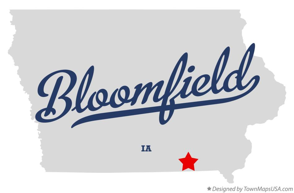 Map of Bloomfield Iowa IA